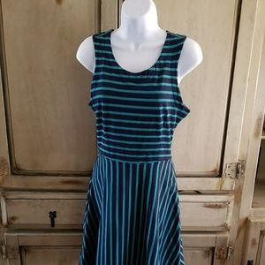 Old Navy Blue/Green Stripped Dress